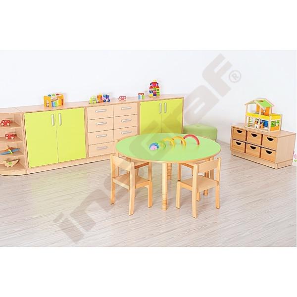 Kindergarten-Tisch Flexi (rund) - höhenverstellbar 40-58 cm 2
