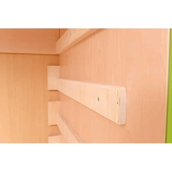 Schrank für Kindergartenbetten 501001 - Türen grün - lackiert 4