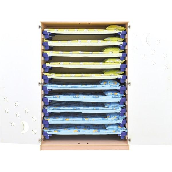 Schrank für Kindergartenbetten 501001 - Türen grün - lackiert 5
