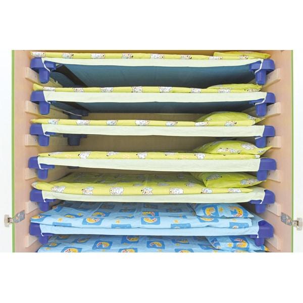 Schrank für Kindergartenbetten 501001 - Türen grün - lackiert 6