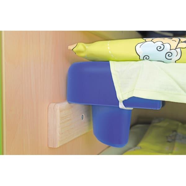 Schrank für Kindergartenbetten 501001 - Türen grün - lackiert 7