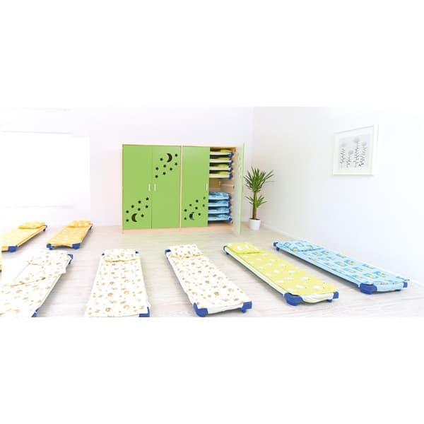Schrank für Kindergartenbetten 501001 - Türen grün - lackiert 9