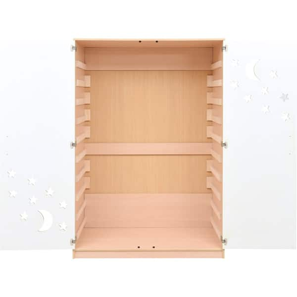 Schrank für Kindergartenbetten 501001 - Türen grün - lackiert 2