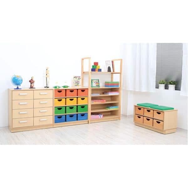 Möbelsatz Schrank S+M inkl. Holzbehälter - Flexi 69 1