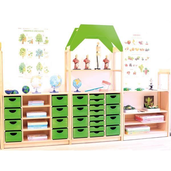 Möbelsatz Schrank S+M inkl. Dach und Holzbehälter - Flexi 70 1