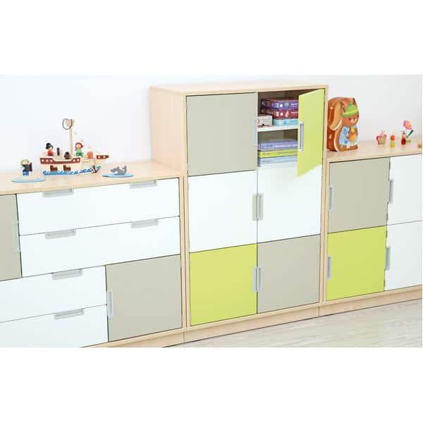 Möbelsatz Schrank M+L inkl. Schubladen - Quadro 2-180° - Ahorn 2