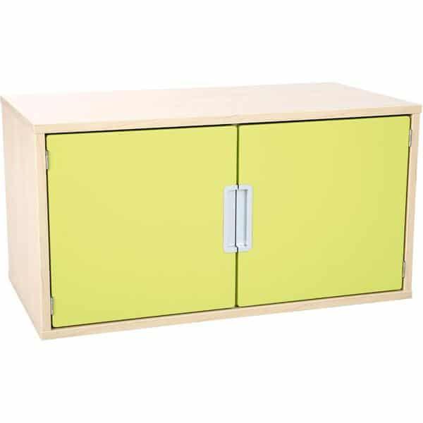 Hängeregal mit 1 Tür - Breite: 79 cm - Ahorn - limone (Quadro 34-180°) 1