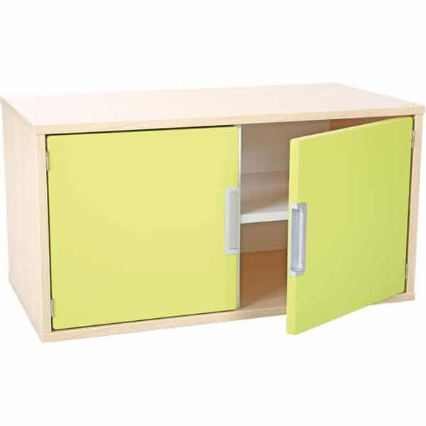 Hängeregal mit 1 Tür - Breite: 79 cm - Ahorn - limone (Quadro 34-180°) 2