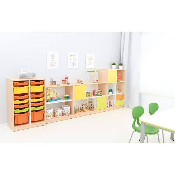 Möbelsatz Schrank M+L orange/gelb/limone - Quadro 86-180° - Ahorn 3