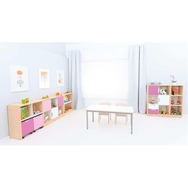 Möbelsatz Schrank M+L flieder/magenta - Quadro 87-180° - Ahorn 4