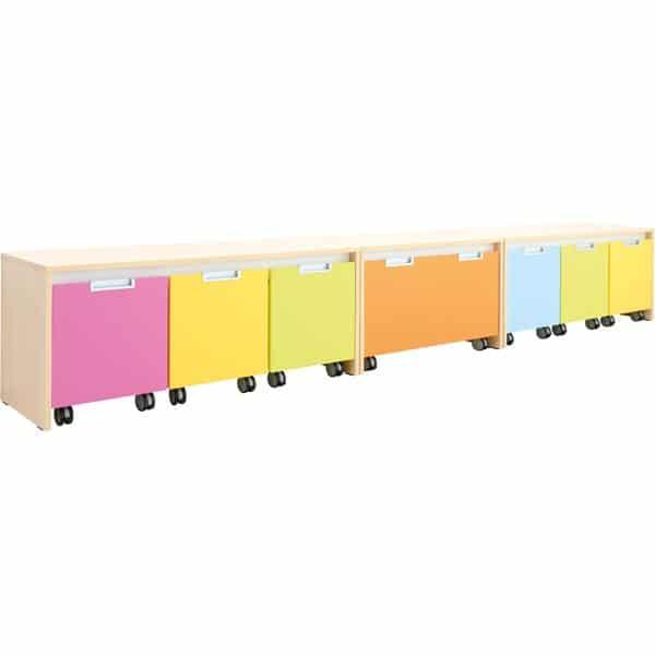 Möbelsatz Schrank S bunt - Quadro 110 - Ahorn 2