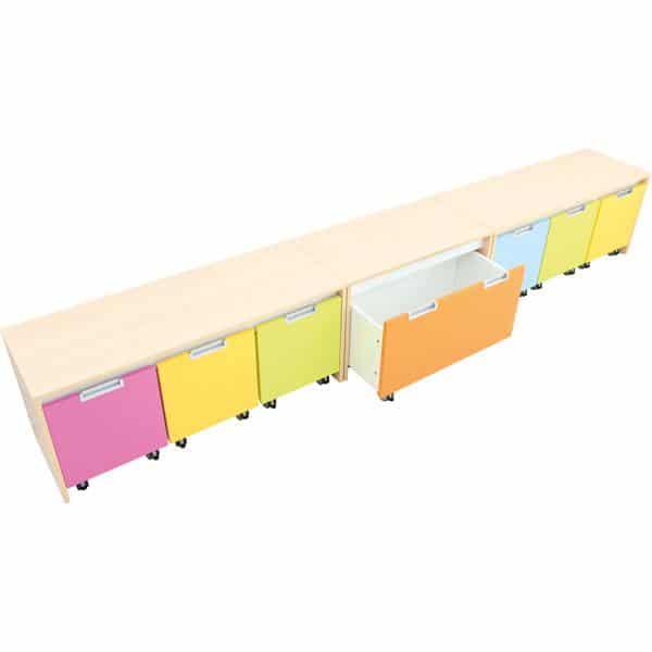 Möbelsatz Schrank S bunt - Quadro 110 - Ahorn 3