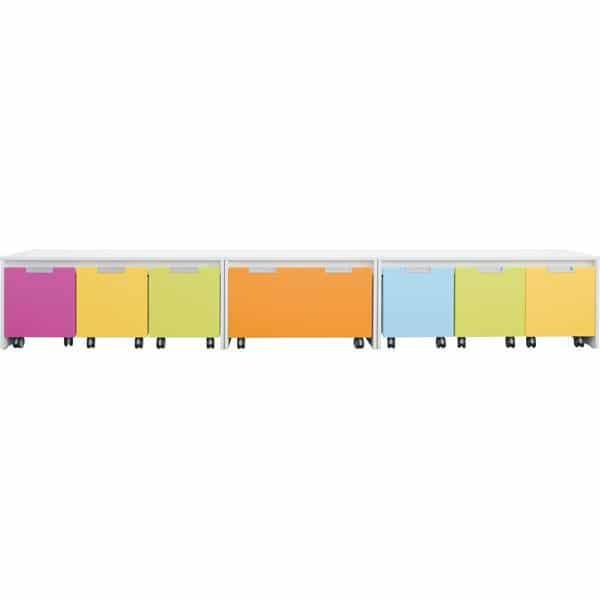 Möbelsatz Schrank S bunt - Quadro 110 - Weiß 1