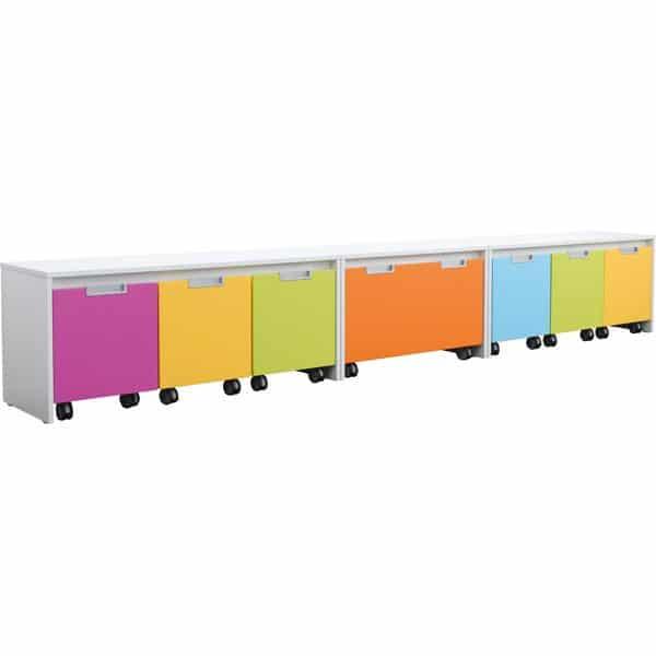 Möbelsatz Schrank S bunt - Quadro 110 - Weiß 2