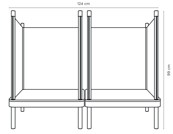 SILA Couch klein - modulare Akustik-Möbel 2