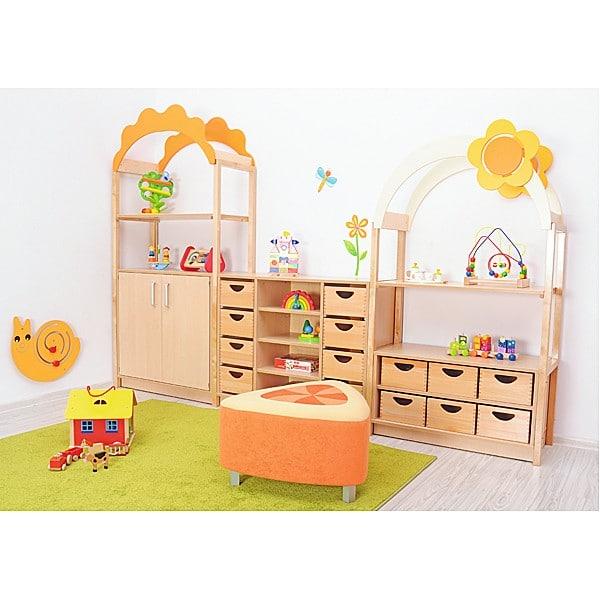 Kindergarten-Sitz Premium - dreieckig - orange/gelb 2