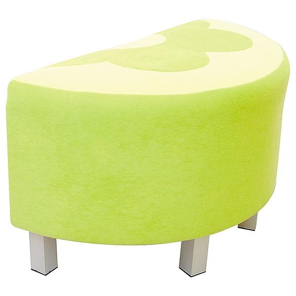 Kindergarten-Sitz Premium - halbrund - grün 1