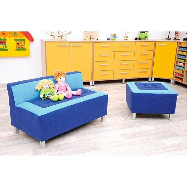 Kindergarten-Sitz Premium - quadratisch - blau 3