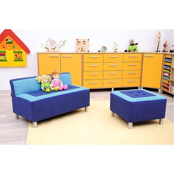 Kindergarten-Sofa Premium - gerade - blau 2