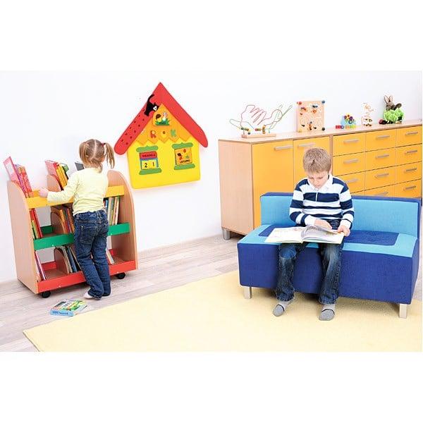 Kindergarten-Sofa Premium - gerade - blau 3