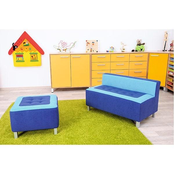 Kindergarten-Sofa Premium - gerade - blau 4