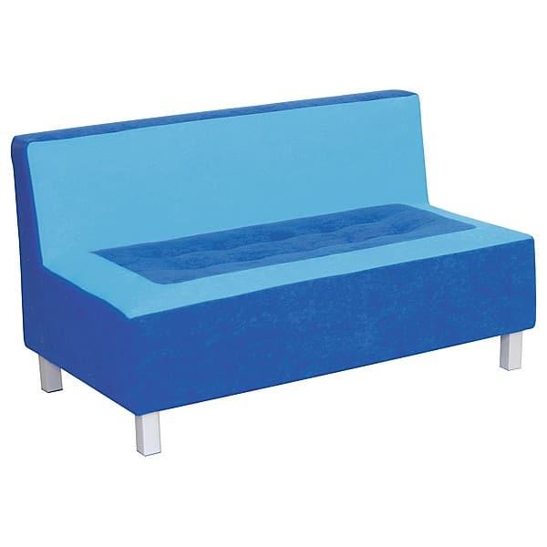 Kindergarten-Sofa Premium - gerade - blau 1