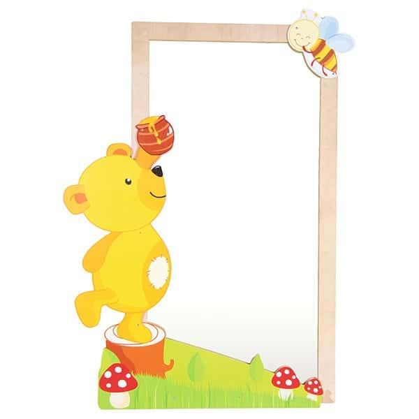 Spiegelschmuck - Bär mit Biene 1