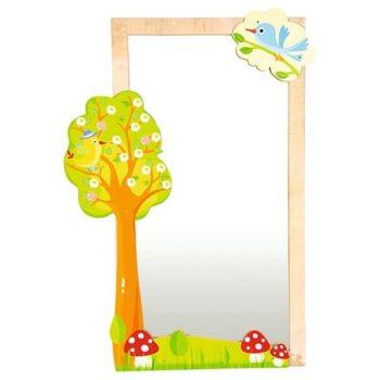 Spiegelschmuck - Baum mit Vogel 3