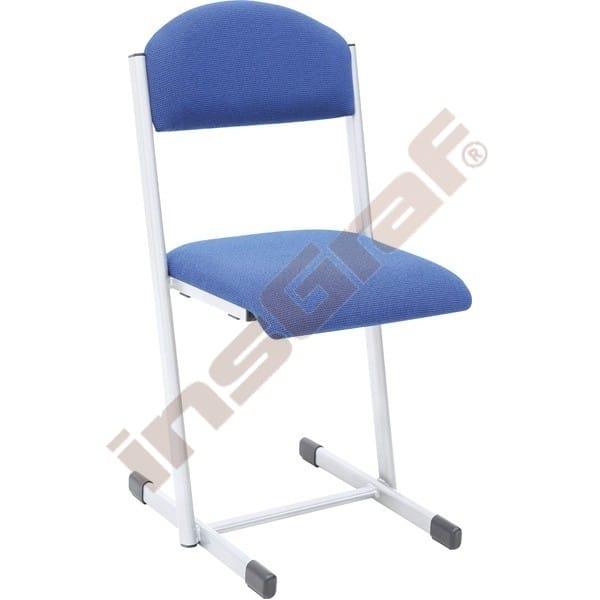 Schulstuhl T 6 - gepolstert - Sitzhöhe: 46 cm - für Tischhöhe 76 cm - blau 1