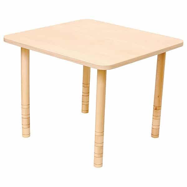 Kindergarten-Tisch mit verstärkter Tischplatte (quadratisch, Birke) 1