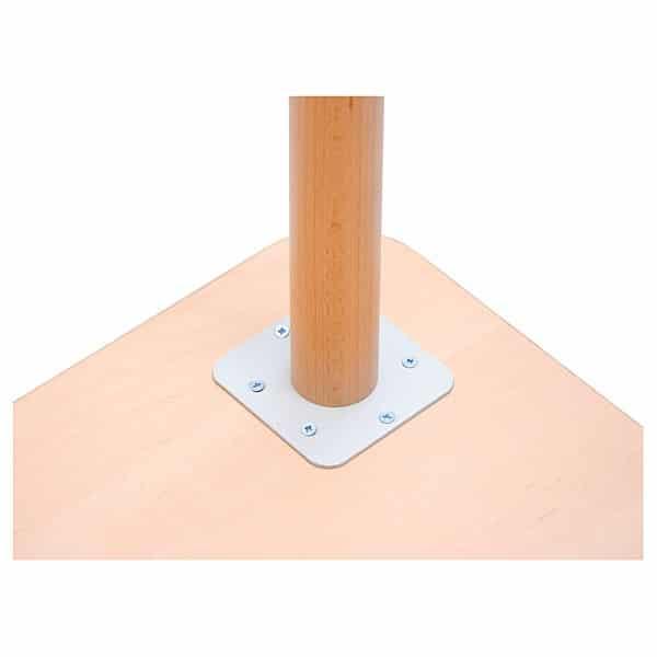 Kindergarten-Tisch mit verstärkter Tischplatte (quadratisch, Birke) 3