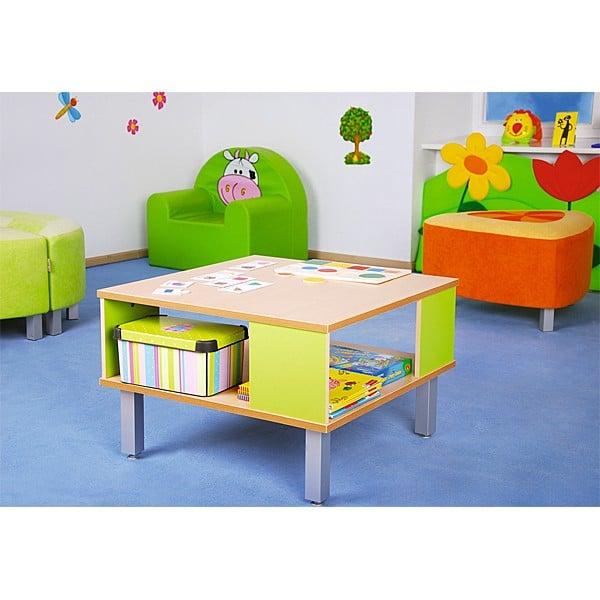 Kindergarten-Tisch Premium mit Ablagefach 2