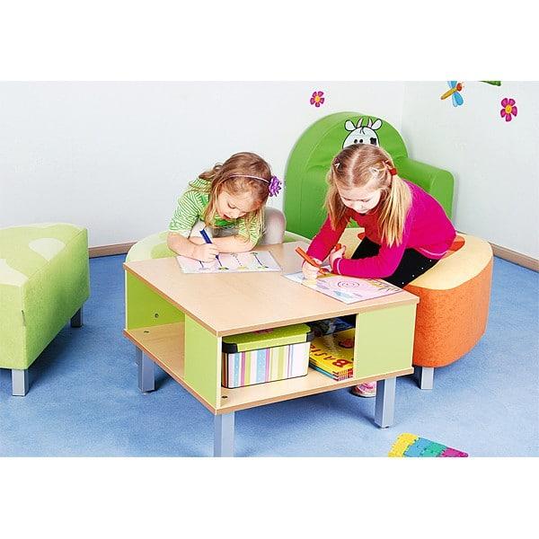 Kindergarten-Tisch Premium mit Ablagefach 4