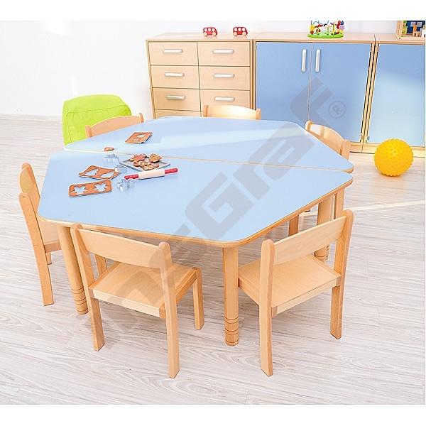 Kindergarten-Tisch Flexi (trapezförmig) - höhenverstellbar 40-58 cm 4