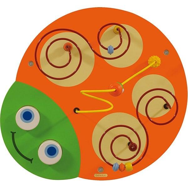 Wandapplikation Raupe - Kopf mit Spiralbahn 1