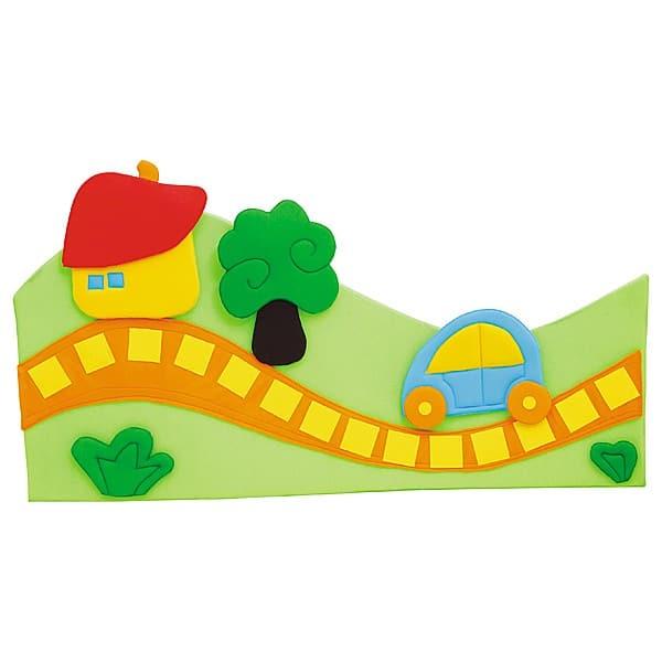 Wanddekoration - Weg mit Baum - grün 2