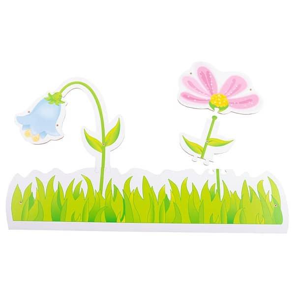 Wandpuzzle - Wiese mit 2 Blumen 1