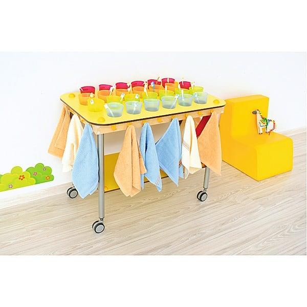 Kindergarten-Zahnputzbecherwagen - Rechteck - 26 Becher 3