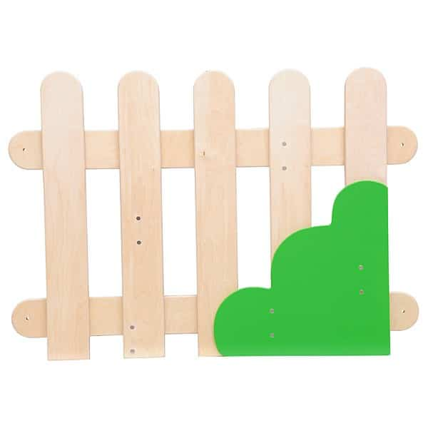 Wand-Applikation - Zaun mit Strauch rechts 1