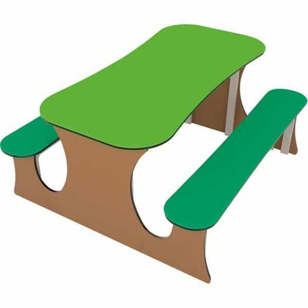 Großer Picknicktisch - braun/grün 1