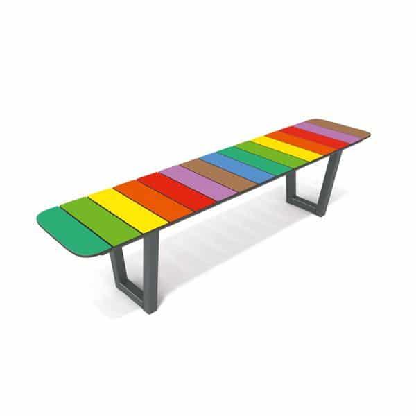 Regenbogenbank - gerade 1