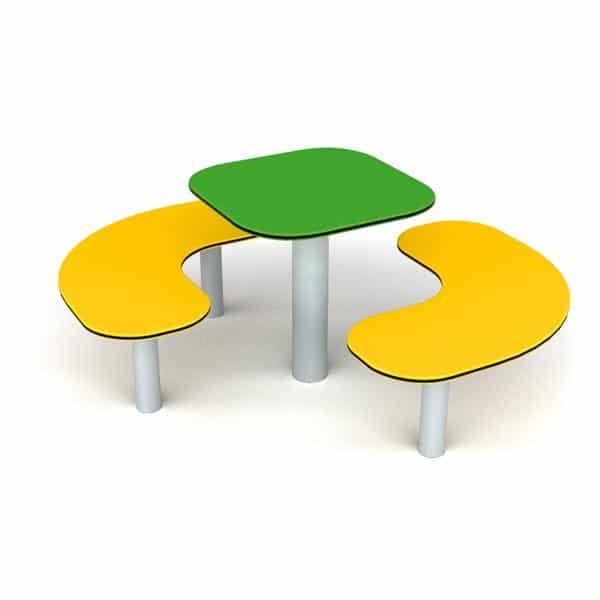 Sitzgruppe grün/gelb 1