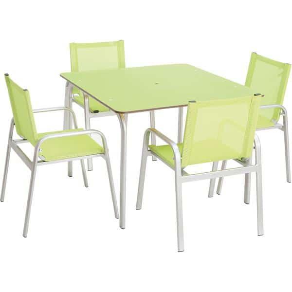 Allwettertisch + 4 Stühle 1