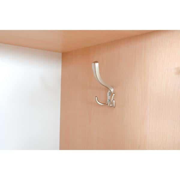 Kleiderschrank L mit 2 Fächern - weiß-graue Türen 4