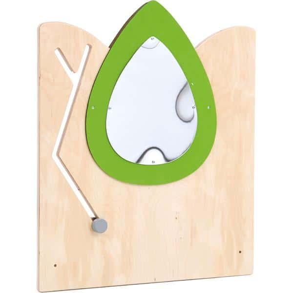 Holztrennwand Flora 3 - Spiegel + Schiebespiel 1