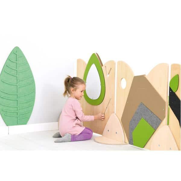 Holztrennwand Flora 3 - Spiegel + Schiebespiel 3