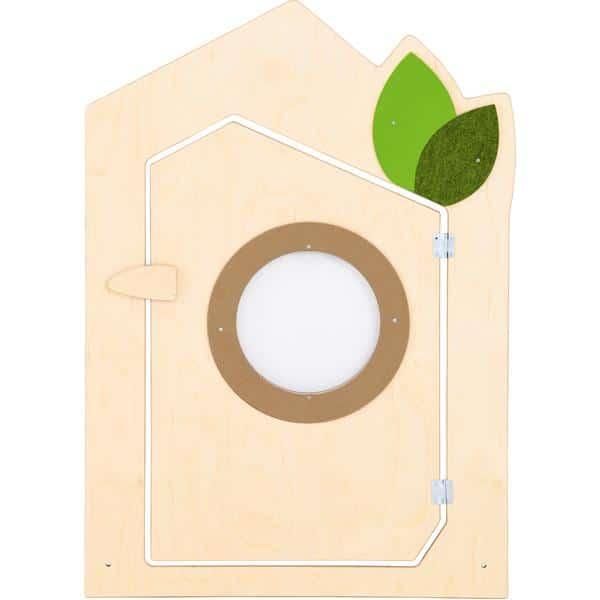 Holztrennwand Flora 8 - Tür 1