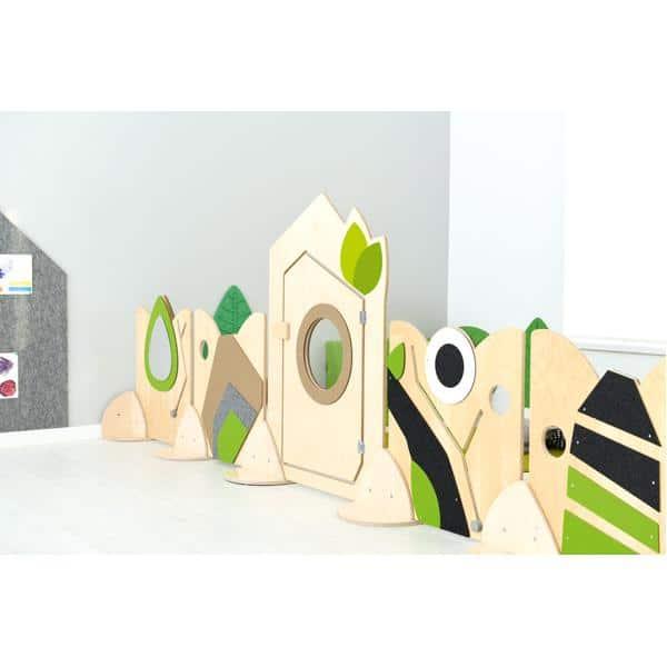 Holztrennwand Flora 8 - Tür 4