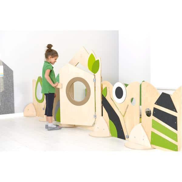 Holztrennwand Flora 8 - Tür 3