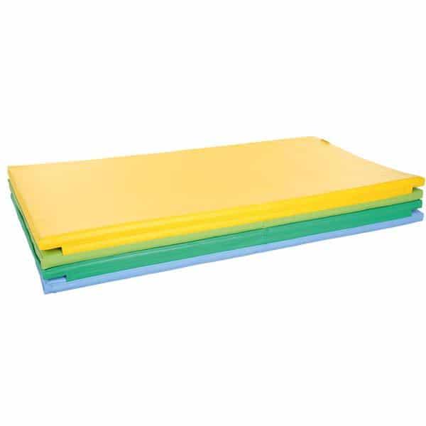 4-teilige Matte - gelb/hellgrün/grün/blau 1